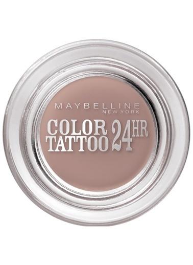 Maybelline Maybelline New York Color Tattoo 24H Mat Göz Farı - 98 Creamy Beige - Bej Ten
